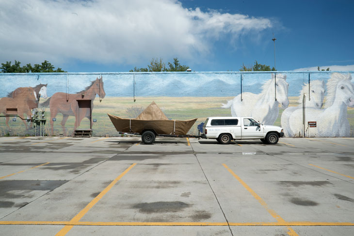 Boat with Horses mural in Colorado