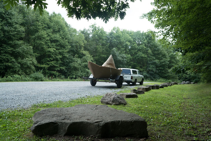 Boat at Tidioute overlook, Allegheny Mountains, Pennsylvania