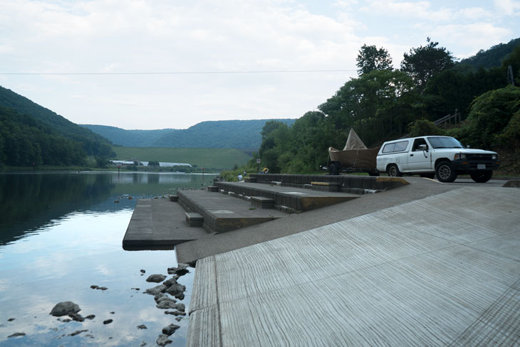 Boat at Kinsua Dam, Allegheny River, Pennsylvania