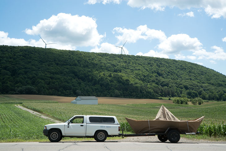 Boat in farmlands of western New York
